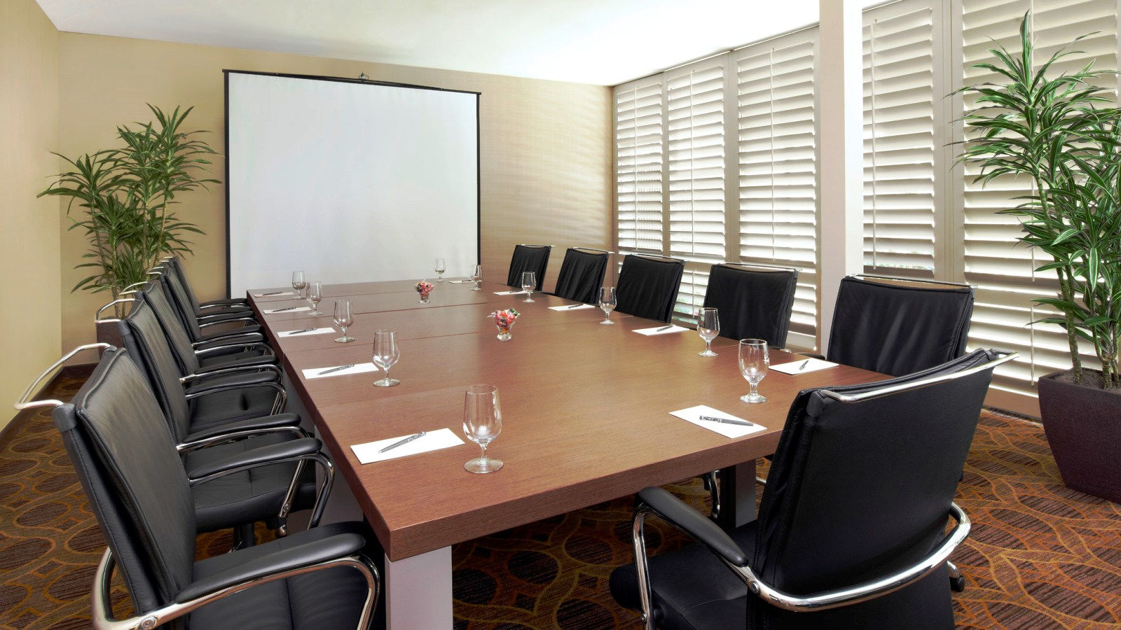 Our small meeting space in Pleasanton offers natural lighting and complimentary high-speed Wi-Fi.